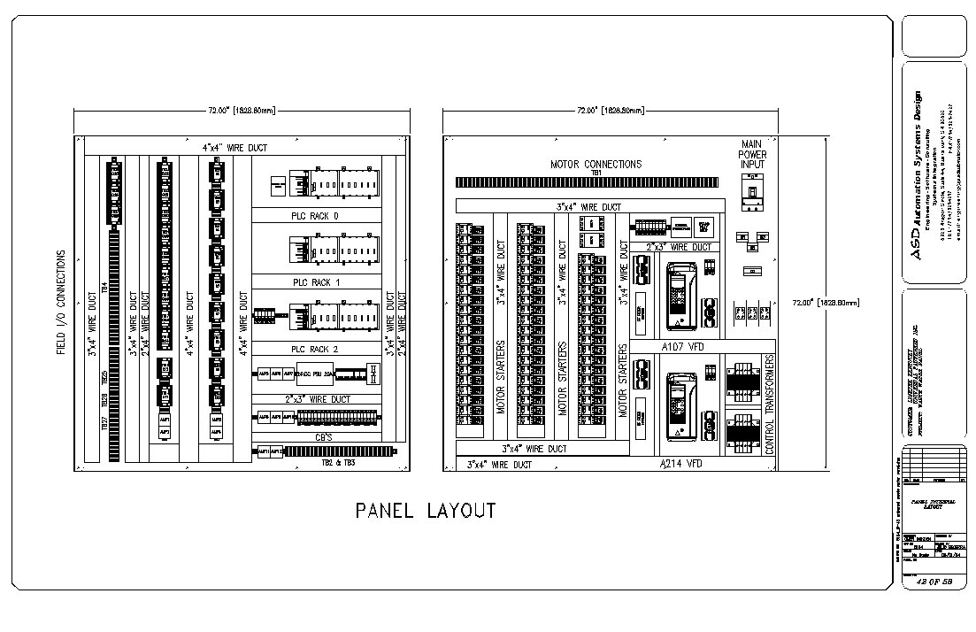P electrical control panels on cabinet building diagrams